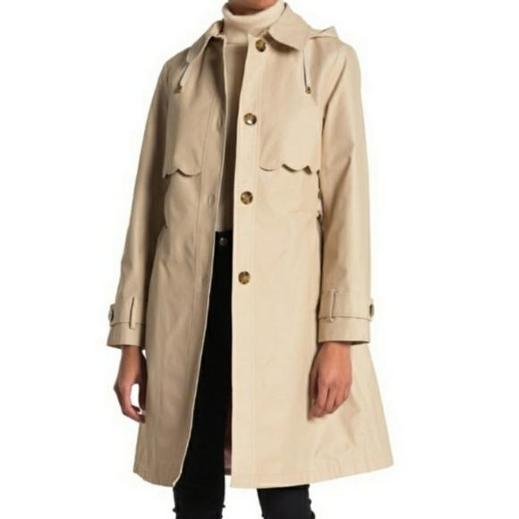 Kate Spade New york scalloped hood trench coat